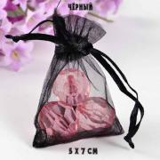мешочек 5х7 см. из органзы черного цвета