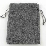 Мешочек 7х9 см. ЭКОстиль (под джут) цвет Серый