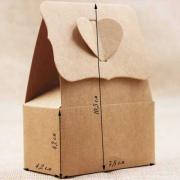 Крафт-коробочка 4,2х7,8х10,5 см складная для упаковки подарков
