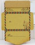 Мини конверт Ретро, 12.5х9.5 см