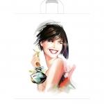 Пакет Девушка с флаконом, 38х45 см